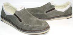 Туфли мокасины мужские IKOC 3394-3 Gray.