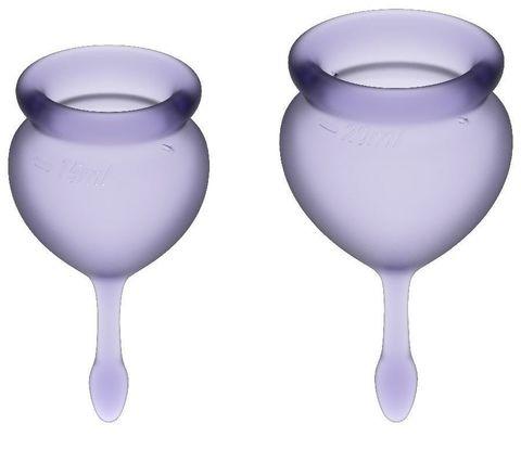 Набор фиолетовых менструальных чаш Feel good Menstrual Cup