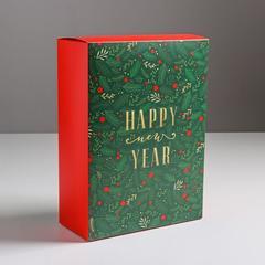 Коробка складная «Новогоднее волшебство», 22 × 30 × 10 см, 1 шт.