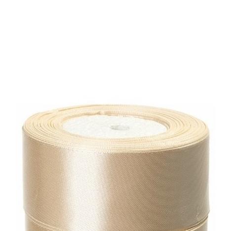 Лента атласная (размер:40мм х 25 ярдов) Цвет:кремовый