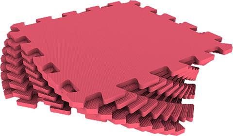 Набор мягких плиток 30*30 см. Красный. Коврики-пазлы.