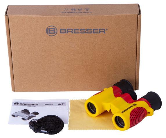 Бинокль детский Bresser Junior 6x21 желтый - фото 2 - комплект поставки