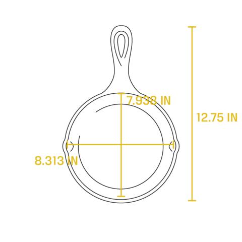 Сковорода чугунная, артикул L5SK3