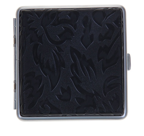 Портсигар Черные листья