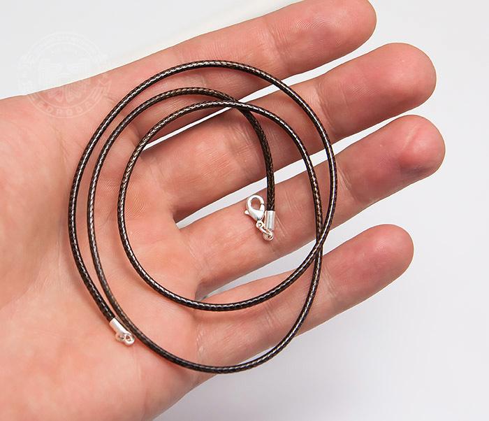 PL277-2 Коричневый шнур на шею из текстиля (55 см) фото 04