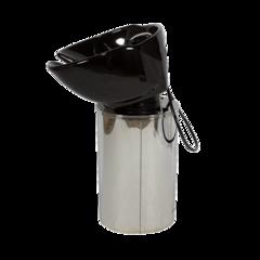 Парикмахерская мойка МД-35, комплектуется белой или черной раковиной, каркас полированная нержавеющая сталь