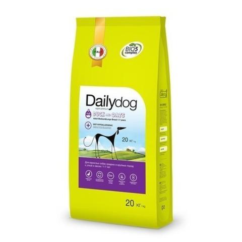 Сухой корм Dailydog Adult Medium Large Breed для собак средних и крупных пород с уткой и овсом, 20 кг.