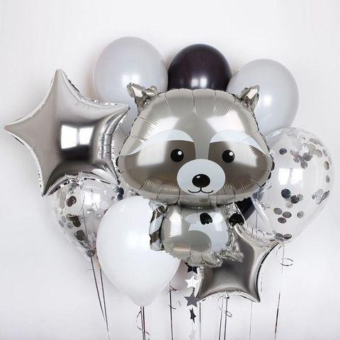 Фонтан из воздушных шаров Енот