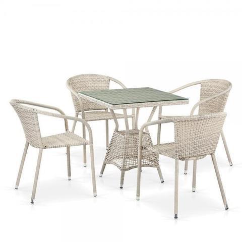 Комплект плетеной мебели из искусственного ротанга T706/Y137C-W85 Latte 4Pcs