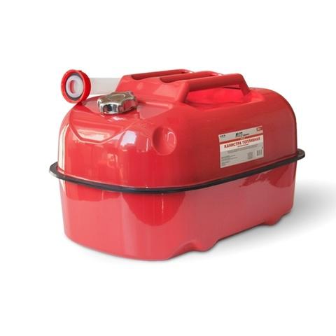 Канистра топливная металлическая горизонтальная AVS HJM-20, 20л, красная