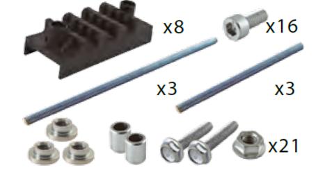 Набор шинных держателей и крепежа НШД  3/10 TN  для 3Р+N системы шин 30-120 x 10 мм TDM