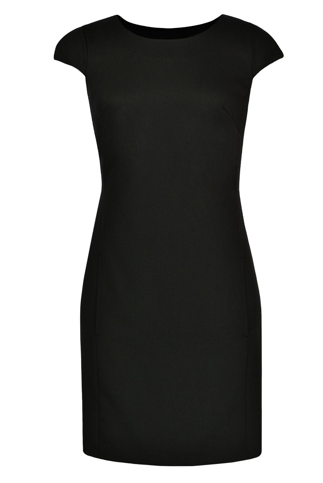 Платья Элегантное платье в офисном стиле черного цвета 081364 175CHer081364yu_1.jpg