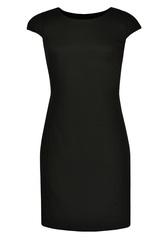 Элегантное платье в офисном стиле черного цвета 081364