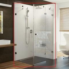 Душевой уголок с распашной дверью 100х100х195 см правый Ravak Brilliant BSDPS-100/100 R 0UPA0A00Z1 фото
