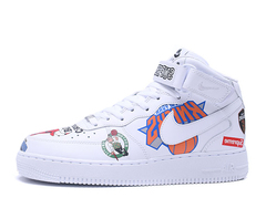 Supreme x NBA x Nike Air Force 1 Mid 'White'