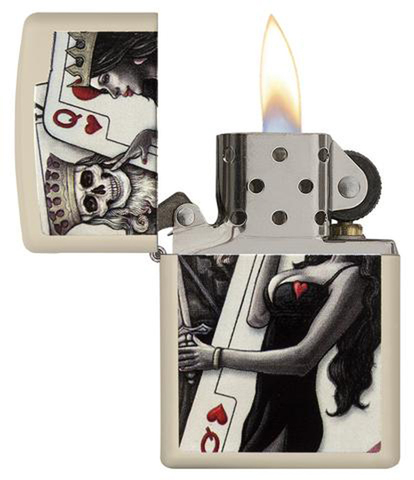 Зажигалка Zippo Classic с покрытием Cream Matte, латунь/сталь, кремовая, матовая, 36x12x56 мм123