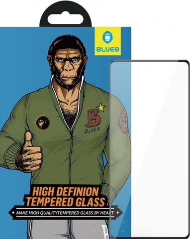 Защитное стекло BlueO для Galaxy A71 закален. с олеоф.покр. | 2.5D рамка черное 0.26мм