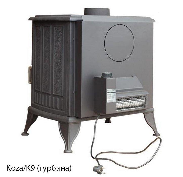 Чугунная печь 10 кВт Kratki Koza/K9, Польша