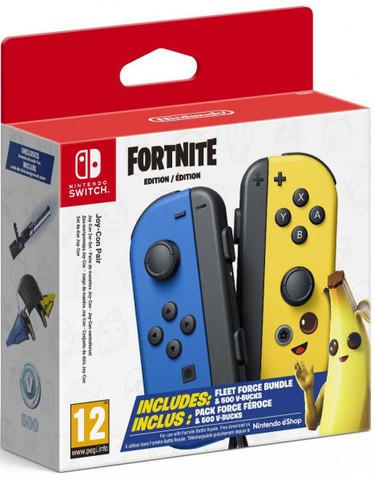 Набор контроллеров Joy-Con (Nintendo Switch, издание FORTNITE + 500 В-баксов + косметика)