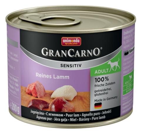 Консервы Animonda Gran Carno Sensitiv c ягненком для собак с чувствительным пищеварением
