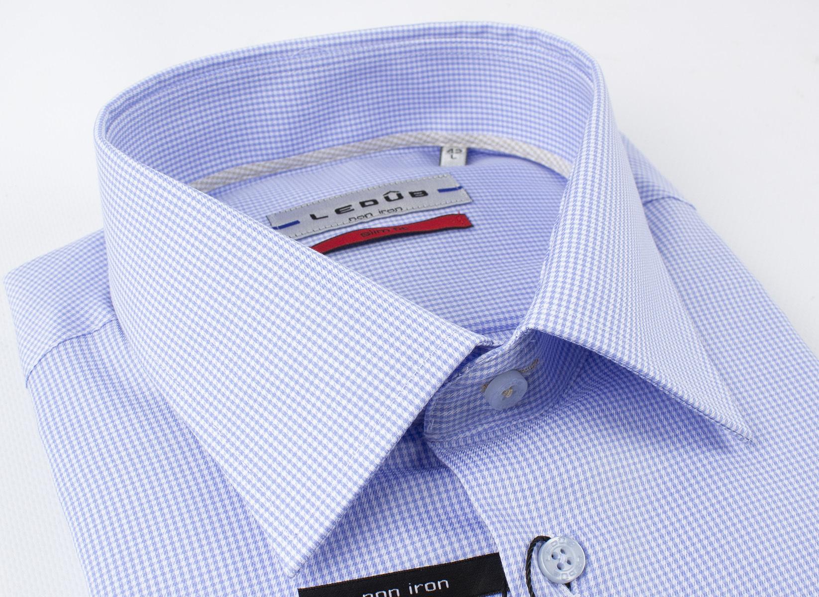 Рубашка Ledub slim fit 0136743-140-000-000-SF-Blue