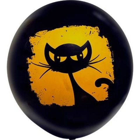 Воздушный шар Кошка черная 60 см.