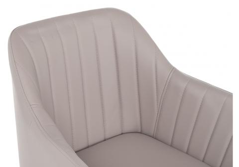 Стул кухонный, обеденный, для гостиной, металлический Mody светло-серый 57*57*86 Хромированный металл /Светло-серый