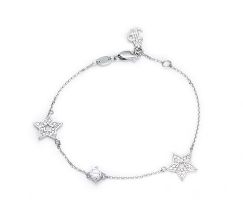 Браслет из серебра со звездами и джевалитами