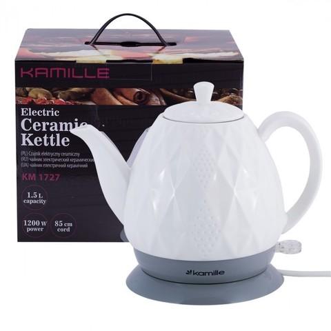 Чайник электрический Kamille керамический 1.5л. KM-1727