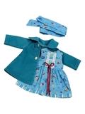 Пальто и платье - Голубой. Одежда для кукол, пупсов и мягких игрушек.