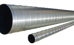 Труба спирально-навитая D 250 (3 м) оцинкованная сталь
