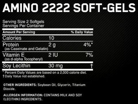 Аминокислоты Optimum Nutrition Superior Amino 2222 Softgels