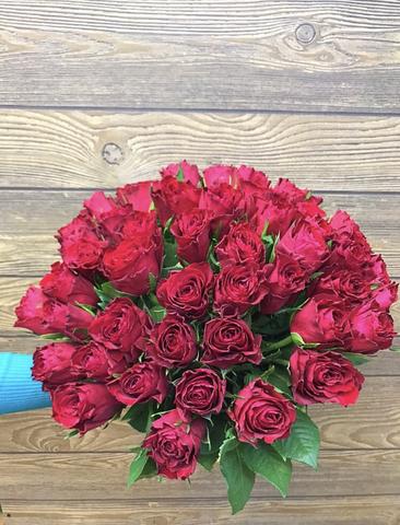 51 красная кенийская роза 40 см #19765