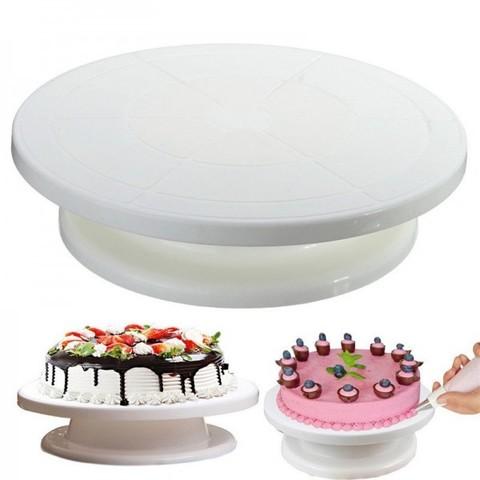 Вращающаяся подставка для декорирования тортов 28 см