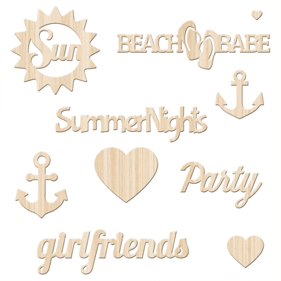 Набор деревянных украшений Summer Sun by Fanscy Pants