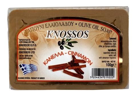 Натуральное оливковое мыло с корицей Knossos 100 гр