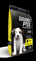 Сухой корм для щенков собак крупных пород, GRAND PRIX Large Junior, с ягненком