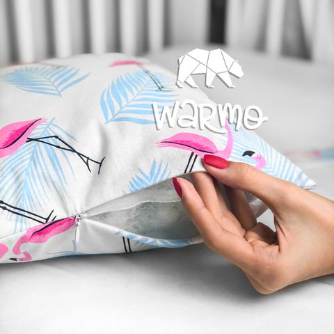 Набір бортиків-подушок в ліжечко 30x30см ГОЛУБІ ФЛАМІНГО