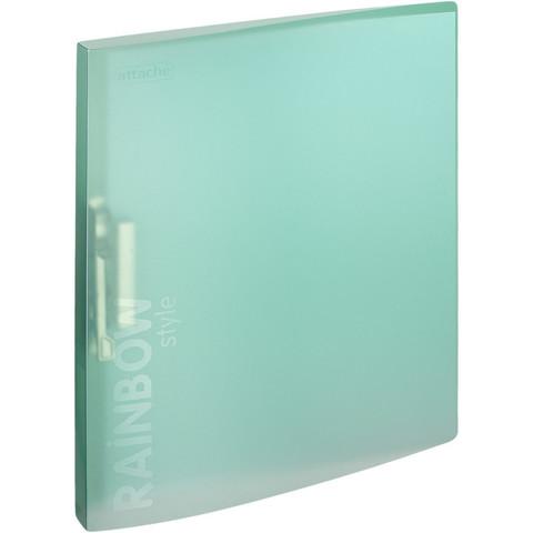 Папка с зажимом Attache Rainbow Style А4 0.45 мм зеленая (до 150 листов)