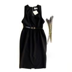 Платье-футляр (Черный)