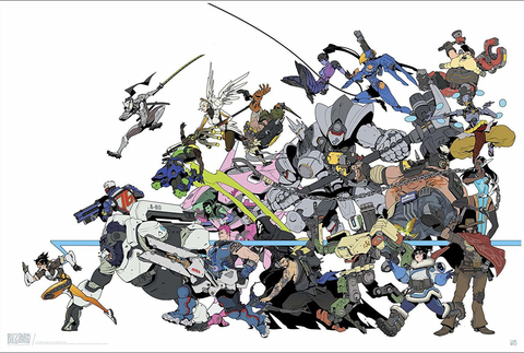 Постер Overwatch: All Characters: ABYDCO444