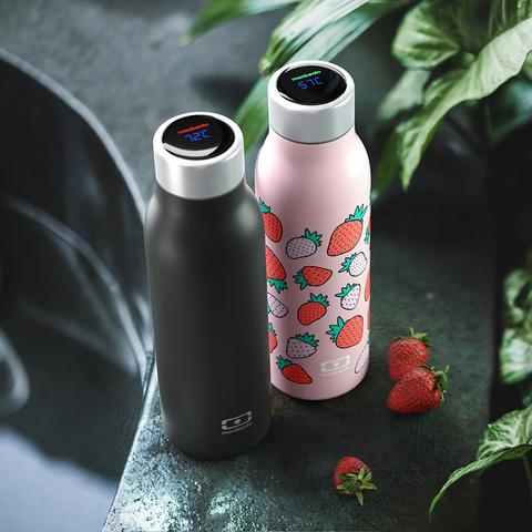 Термос с крышкой термометром mb genius 0,5 л strawberry