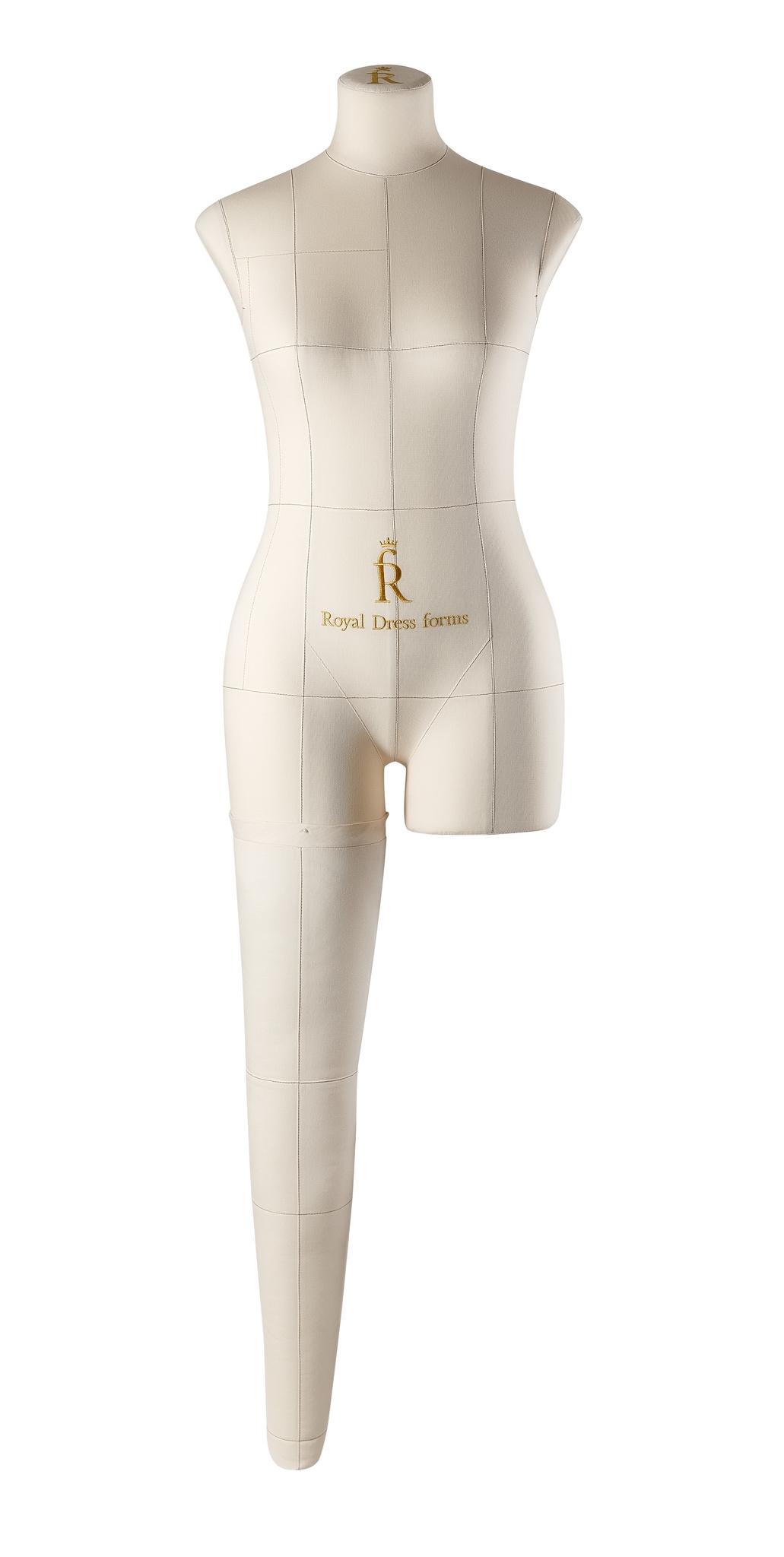 Нога для манекена Моника, размер 44 тип фигуры Песочные часы, БежеваяФото 0