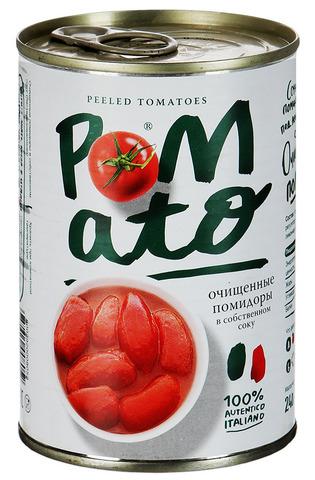 """Помидоры """"Pomato"""" очищенные в собственном соку, 400 г"""