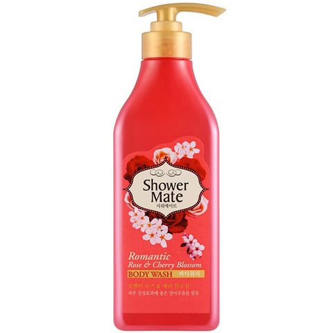 Aekyung Shower Mate Romantic Rose & Cherry Blossom Гель для душа Роза и Цветущая вишня 550 мл