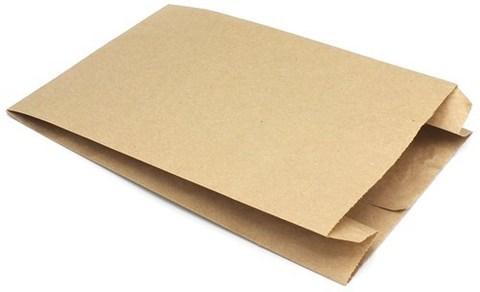 Пакет фасовочный бумажный 170х70х250 мм с плоским дном крафт 40