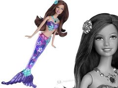 "Кукла Барби русалка ""Сверкающие огоньки"" Брюнетка"