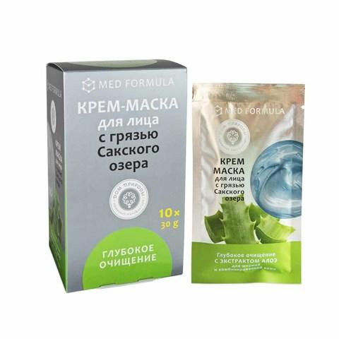 Крем-маска для жирной и комбинированной кожи лица «Глубокое очищение» с экстрактом алоэ