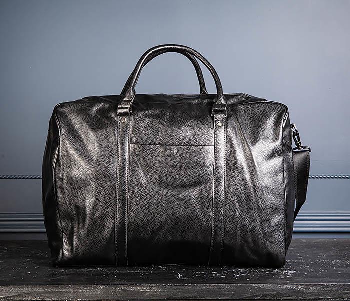 BAG521-1 Кожаная дорожная сумка с ручками и ремнем фото 03