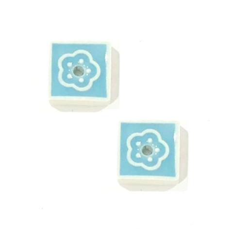 Керамическая подставка голубая
